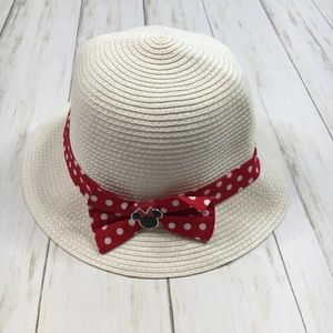 Disney Parks Ivory & Red Minnie Mouse Bucket Hat